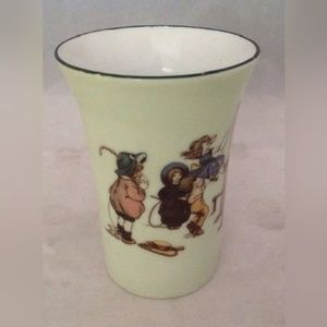 """Other - Cup Germany Kids Playing Green Vintage 4"""" tall"""